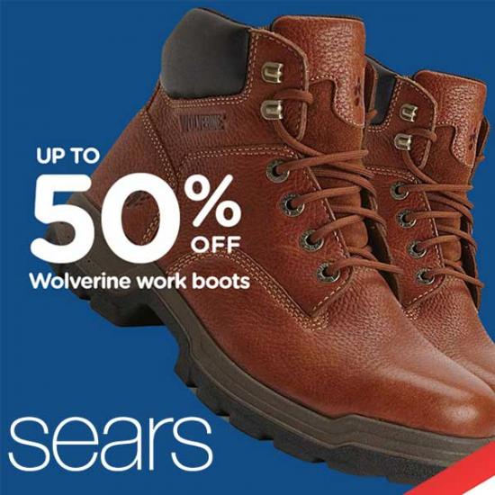 wolverine steel toe work boots sears