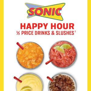 50% Off Drinks and Slushes Every Afternoon