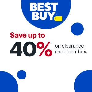 Up to 40% Off on Clearance and Open-Box Items