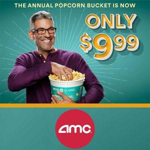 The Annual Popcorn Bucket at $9.99