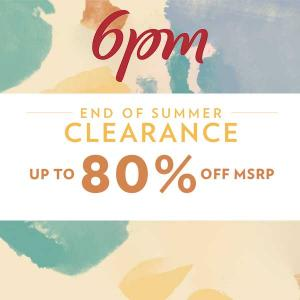 Up to 80% Off in Summer Clearance Sale