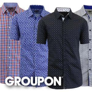 78% Off Men's Slim-Fit Short Sleeve Dress Shirt