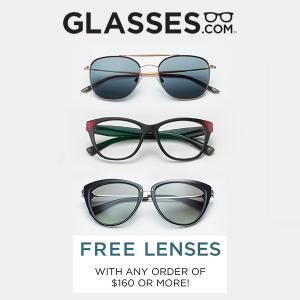 Free Lenses With Purchase of $160 or More