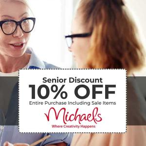 10% Off Entire Purchase for Seniors 55 and Older