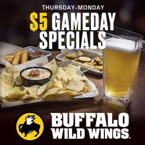 $5 Gameday Specials