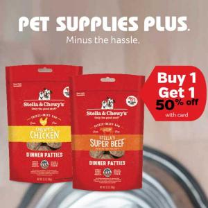 Buy 1, Get 1 50% Off Stella & Chewy's Freeze Dried Dog Food