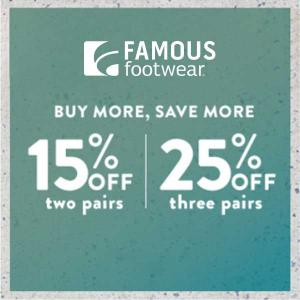 Up to 25% Off on Pairs of Shoes