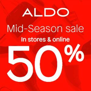 50% Off In Stores and Online in Mid-Season Sale