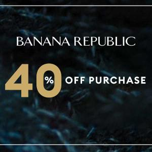 40% Off In-Store and Online Purchases