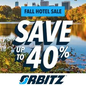 Up to 40% Off in Fall Hotel Sale