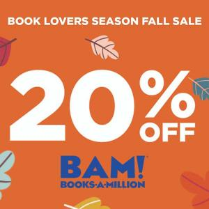 20% Off $30 With Code in Book Lovers Season Fall Sale