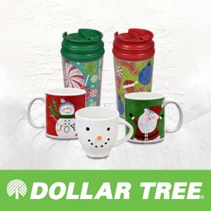 $1 Christmas Mugs and Tumblers