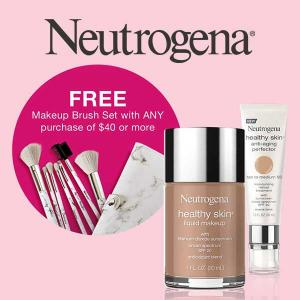 25% Off All Makeup + Free Brush Set w/ $40+ Purchase