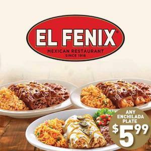 $5.99 Enchilada Plate Every Wednesday