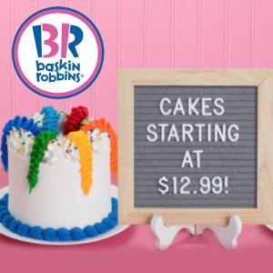 Cakes Staring at $12.99