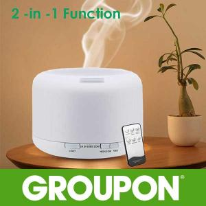 53% Off 7 LED Ultrasonic Diffuser and Humidifier