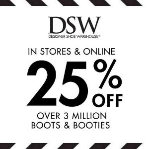 25% Off Boots and Booties