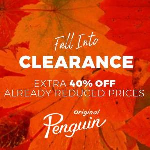 Fall Clearance: Extra 40% Off Already Reduced Prices
