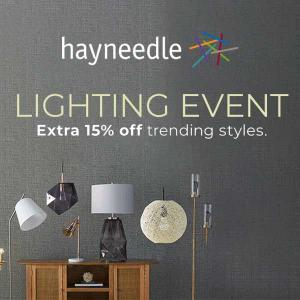 Extra 15% Off Trending Lighting Styles