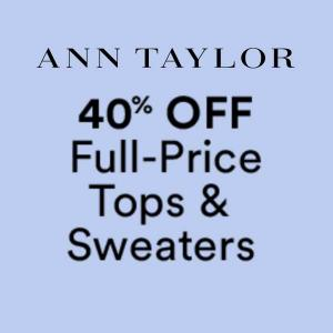 40% Off Full-Priced Tops and Sweaters With Code