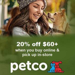 20% Off $60+ Buy Online, Pick Up in Store Purchase