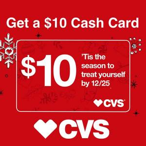 Receive $10 Cash Card with $30 Purchase Select items