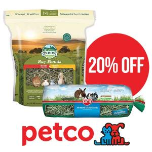 Up to 20% Off Small Animal Hay and Grass