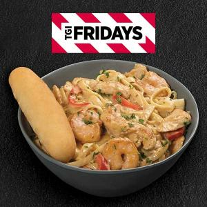 $5.99 Lunch Portion Cajun Shrimp and Chicken Pasta