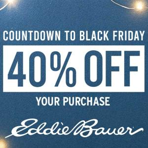 Countdown to Black Friday: 40% Off Your Purchase