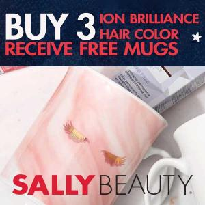 Free Mug Set w/ 3 Ion Brilliance Hair Care Purchase