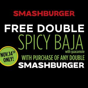 Free Double Spicy Baja w/ Guacamole with Purchase