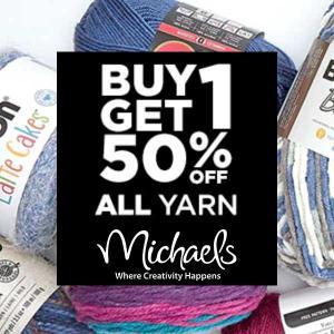 Buy One, Get One 50% Off Yarn