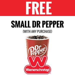 Free Small Dr Pepper With Any Purchase