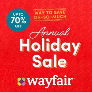 Up to 70% Off Annual Holiday Sale