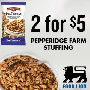 Ends 11/19: 2 for $5 Pepperidge Farm Stuffing
