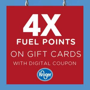 4X Fuel Points Coupon on Gift Cards Purchase