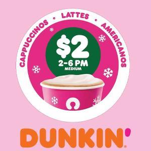 $2 Dunkin' Donut Lattes
