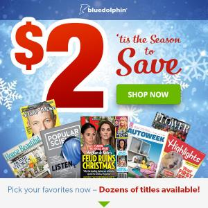 Up to 6 Magazine Subscriptions for ONLY $2 (Time, US Weekly & more)