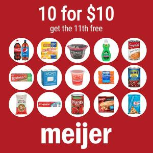 10 Grocery Items for $10 and Get the 11th Free