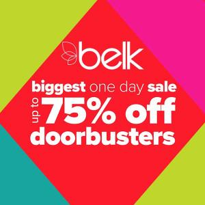 Biggest One Day Sale: Up to 75% Off Doorbusters