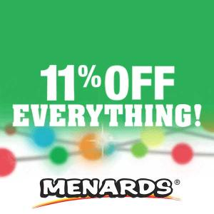 Will End Soon: 11% Off Everything