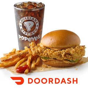 Free Popeyes Chicken Sandwich w/ $20+ DoorDash Order