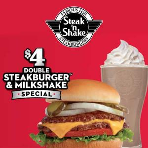$4 Double Steakburger & Milkshake
