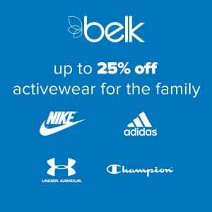 Up to 25% Off Activewear for the Family