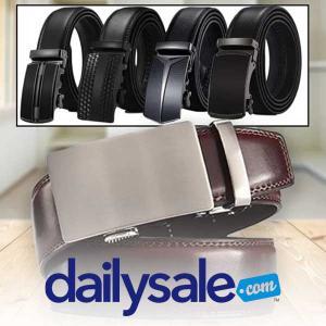 54% Off Barbados Men's Leather Belt w/ Automatic Ratchet