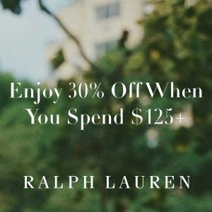 30% Off $125+ Purchase + Extra 15% Off Sale Styles