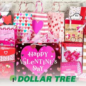 $1 Valentine's Gift Bags & Boxes
