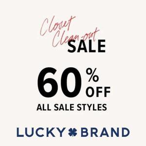 60% Off All Sale Styles
