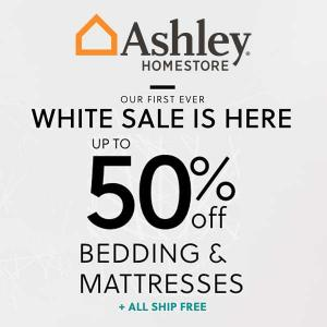 Up to 50% Off Bedding and Mattresses in White Sale