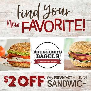 Ends 1/23: $2 Off Any Breakfast or Lunch Sandwich